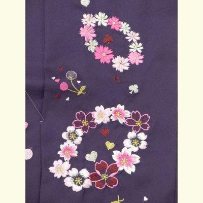画像4: ≪在庫処分セール!現品限り≫ 卒業式 袴 女性用 刺繍入り袴【紫、花輪とさくらんぼ】