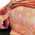 画像6: 七五三 7歳女の子用 着物 フルセット 子供着物 結び帯セット(合繊)【クリーム系、梅と椿】