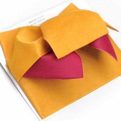 画像2: ≪在庫処分セール!≫  女性用浴衣帯 垂れ付き作り帯 日本製【黄色×チェリーピンク】