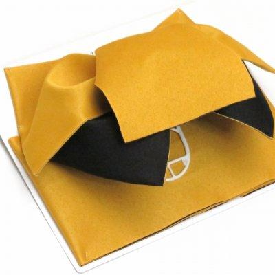 画像2: ≪在庫処分セール!≫  女性用浴衣帯 垂れ付き作り帯 日本製【黄色×黒】