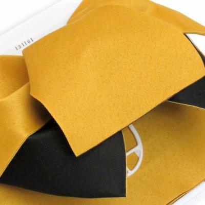 画像3: ≪在庫処分セール!≫  女性用浴衣帯 垂れ付き作り帯 日本製【黄色×黒】