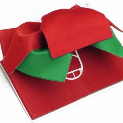 画像2: 女性用浴衣帯 リボン返し結びの垂れ付きの作り帯 日本製【赤×緑】