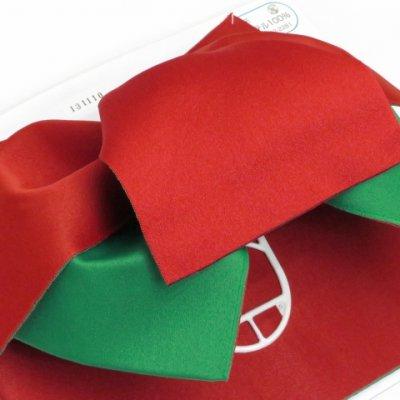 画像3: 女性用浴衣帯 リボン返し結びの垂れ付きの作り帯 日本製【赤×緑】