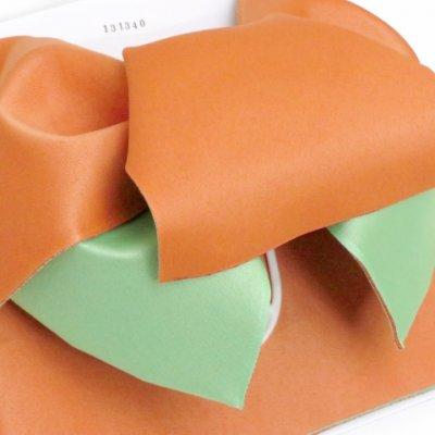画像3: 女性用浴衣帯 リボン返し結びの垂れ付きの作り帯 日本製【薄オレンジ×薄抹茶】