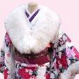画像2: 振袖成人式 ショール 羊毛ショール 日本製【オフホワイト】 (2)