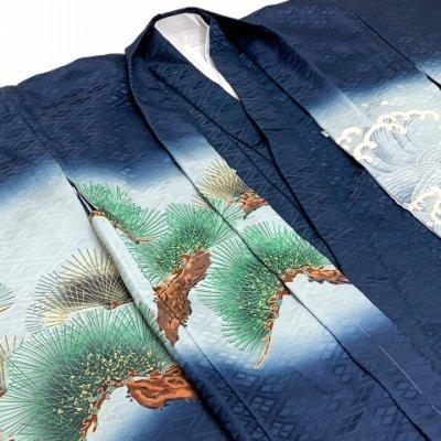 画像3: 七五三 お正月 節句などに 5歳 男の子用 羽織 着物 アンサンブル(合繊)【紺、兜と龍】
