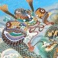 画像4: 七五三 お正月 節句などに 5歳 男の子用 羽織 着物 アンサンブル(合繊)【水色、兜と龍】 (4)