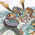 画像4: 七五三 5歳 男の子 フルセット 羽織 着物と縞袴のセット【白地、兜と龍】