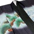 画像3: 七五三 5歳 男の子 フルセット 羽織 着物と縞袴のセット【黒地、兜と龍】
