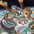 画像4: 七五三 5歳 男の子 フルセット 羽織 着物と縞袴のセット【黒地、兜と龍】