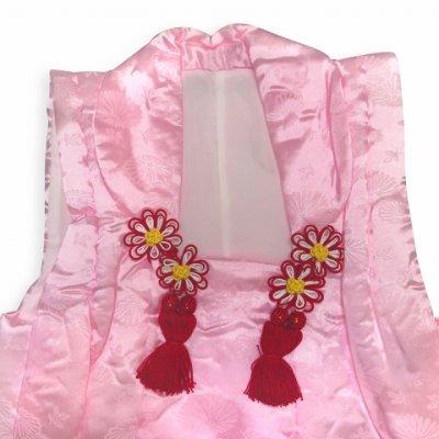 画像2: 【訳あり】七五三 3歳女の子用 日本製の被布コート 合繊 (単品)【ピンク】