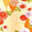 画像4: 卒業式 小学生 女の子 袴セット ジュニア振袖 刺繍袴 4点セット 合繊【クリーム 矢羽に菊】