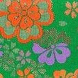 画像3: 七五三 バッグ 子供 金襴生地のバッグ 合繊【緑、古典桜】 (3)