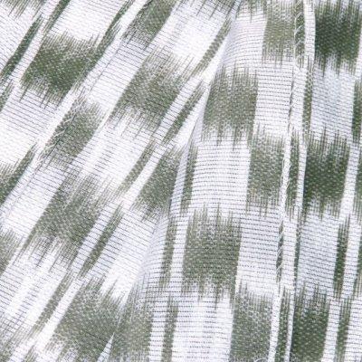 画像4: 洗える着物 絽 小紋 女性用 夏物着物 Lサイズ【グレー系 市松風】