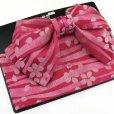 画像2: 子供浴衣帯 ジュニアサイズ結び帯  作り帯 140サイズ向け【赤、桜】 (2)