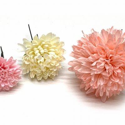 画像3: 和装 髪飾り 成人式の振袖 卒業式の袴に Sumika アートフラワー髪飾り 4点セット【ピンク系、ローズとマム】