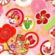 画像3: 式部浪漫 ブランド 七五三 7歳 女の子用 着物 フルセット 総柄の着物 結び帯セット(合繊)【黄緑 梅】
