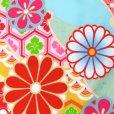 画像3: 七五三 着物 7歳 フルセット 式部浪漫 ブランド 令和元年新作 総柄の着物 結び帯セット(合繊)【水色 菊】