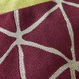 画像3: 半幅帯 浴衣や小紋に レディース 半巾小袋帯 合繊 (長さ400cm)【紫系×黄土系】 (3)