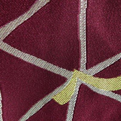 画像4: 半幅帯 浴衣や小紋に レディース 半巾小袋帯 合繊 (長さ400cm)【紫系×黄土系】