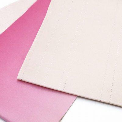 画像3: 国産 無地ぼかし2色 ラメ入り浴衣帯【白&ピンク】