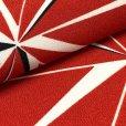 画像3: 卒業式 袴セット 女子用 二尺袖着物 ショート丈 刺繍袴 2点セット(合繊)【赤、麻の葉】