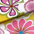 画像4: 卒業式の着物 小紋柄の二尺袖 単品 ショート丈 フリーサイズ【黄色系、花柄】 (4)