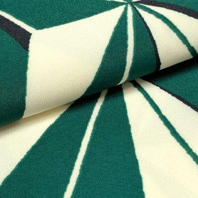 画像4: 卒業式の着物 小紋柄の二尺袖 単品 ショート丈 フリーサイズ【生成りx緑、麻の葉】