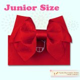 ジュニア用浴衣帯 女の子 作り帯(結び帯)【赤、蝶】