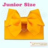 ジュニア用浴衣帯 女の子 作り帯(結び帯)【黄色、蝶】