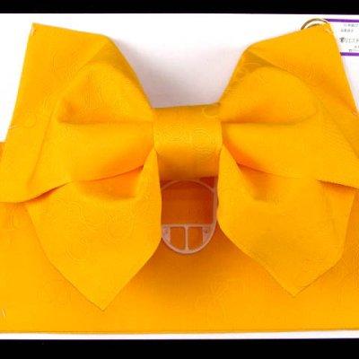画像2: ジュニア用浴衣帯 女の子 作り帯(結び帯)【黄色、蝶】