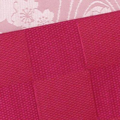 画像3: 浴衣帯 市松柄の浴衣用小袋帯 日本製【赤 市松と流水】