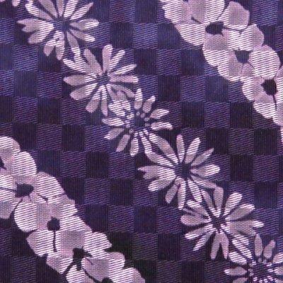 画像4: 浴衣帯 女性用 博多織 本袋帯 絞り調の半幅帯 単品【紫系 花柄】