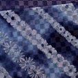 画像3: 浴衣帯 女性用 博多織 本袋帯 絞り調の半幅帯 単品【青系 花柄】 (3)