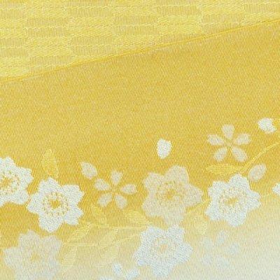画像4: 浴衣帯 レディース 博多織本袋帯 桜柄ぼかし小袋帯 日本製【黄色系 桜】