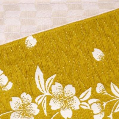 画像3: 浴衣帯  京都西陣浴衣帯 しじら織の小袋帯【金茶、桜】