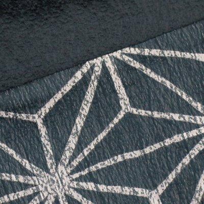 画像3: 浴衣帯 京都西陣 ゆかた小袋帯 日本製【鉄紺色、麻の葉】