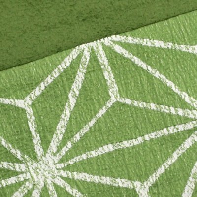 画像3: 浴衣帯 京都西陣 ゆかた小袋帯 日本製【緑、麻の葉】
