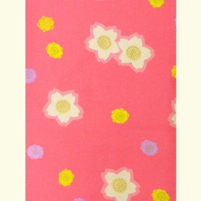 画像2: <七五三セール!> 3歳 女の子 総柄の子供着物 単品(合繊)【ピンク系 桜と梅】 ※襦袢付き