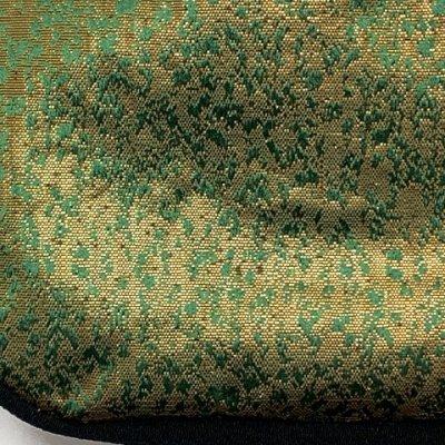 画像3: 信玄袋と雪駄のセット 子供用 七五三の着物に 金襴生地使用の信玄袋 巾着袋と白鼻緒のこども雪駄 【緑x金】