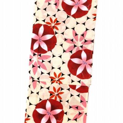 画像2: レディース 浴衣 単品 レトロ モダン ゆったりサイズ 女性浴衣 BL【赤 朝顔】