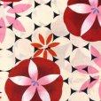 画像3: レディース 浴衣 単品 レトロ モダン ゆったりサイズ 女性浴衣 BL【赤 朝顔】 (3)