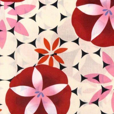 画像3: レディース 浴衣 単品 レトロ モダン ゆったりサイズ 女性浴衣 BL【赤 朝顔】