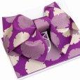 画像3: 浴衣帯 雪輪柄の浴衣用作り帯 日本製【濃紫】 (3)