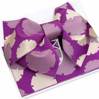 画像3: 浴衣帯 雪輪柄の浴衣用作り帯 日本製【濃紫】