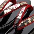 画像5: 草履バッグセット 成人式 お正月 振袖に 4枚芯の草履(ヒール6.5cm) 和装バッグセット フリーサイズ【金x黒、桜】