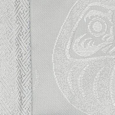 画像2: メンズ 角帯 男性用 粋な絵柄の帯 着物や浴衣に 結び方のしおり付き【白銀系、だるま】