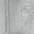 画像2: メンズ 角帯 男性用 粋な絵柄の帯 着物や浴衣に 結び方のしおり付き【銀灰系、だるま】 (2)