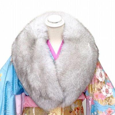 画像2: SAGA FOX 高級ショール フォックスファーショール サガ 毛皮 日本製【ブルーフォックス】