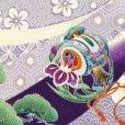 画像4: お宮参りの着物 初着 産着 男の子 上質国産生地 洗えるお祝い着(合繊)【紫、鷹に宝船】